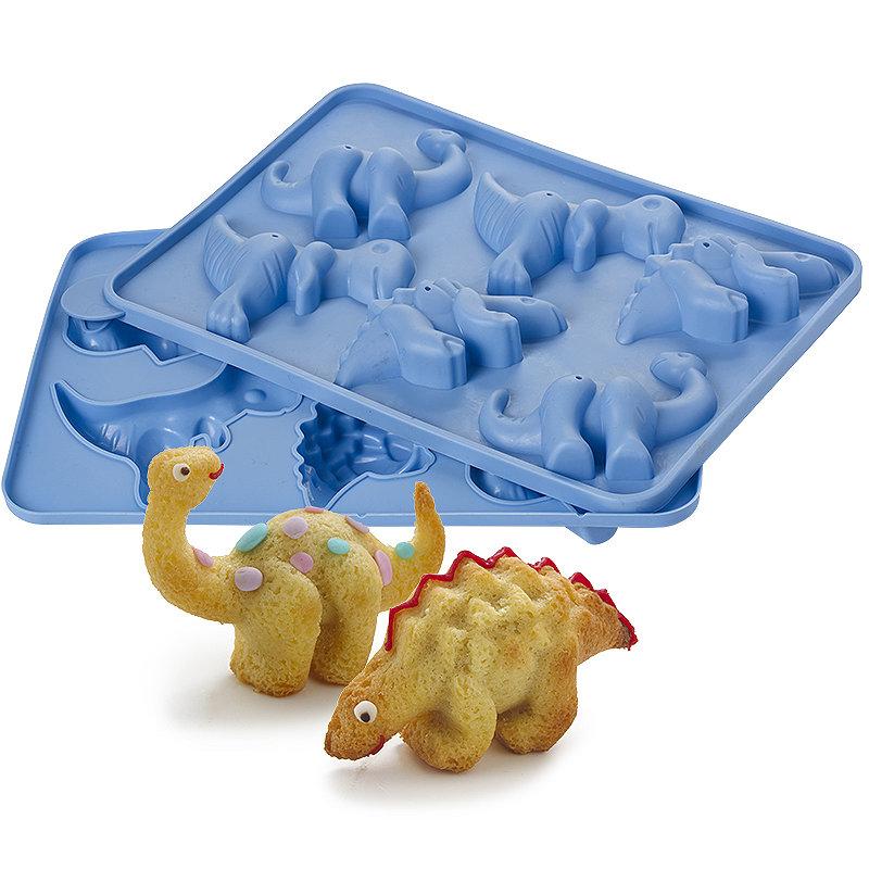 lakeland 6 hole 3d dinosaur birthday cake silicone mould. Black Bedroom Furniture Sets. Home Design Ideas