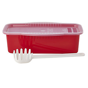 Microwave Cookware Stain Proof - Red Pasta Cooker