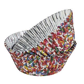 36 PME Foil Lined Cupcake Cases - Coloured Sprinkles Design