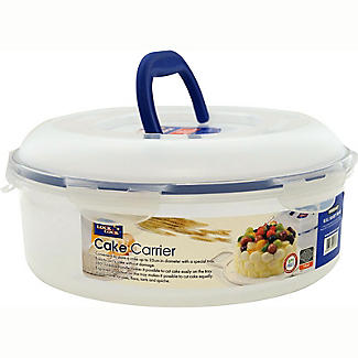 Lock & Lock Cake Carrier Caddy & Clear Lid - Round Holds 25cm Cakes alt image 3