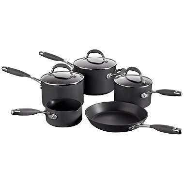 Raymond Blanc 5pc Hard Anodised Kitchen Pan set