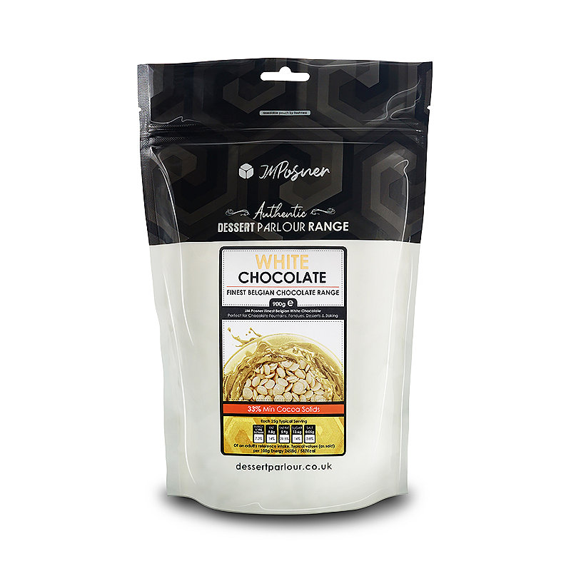 900g Belgian White Chocolate Drops For Fountains &