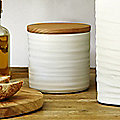 Wave Small Ceramic Canister