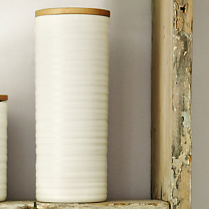 Wave Tall Ceramic Canister