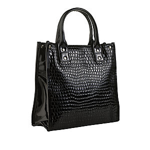 Mock Croc Lunch Tote
