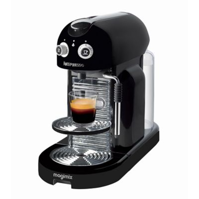 magimix nespresso maestria black coffee pod machine. Black Bedroom Furniture Sets. Home Design Ideas