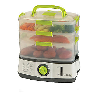 Steama 3 Tier Electric Food Steamer alt image 1