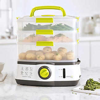 Steama 3 Tier Electric Food Steamer alt image 3