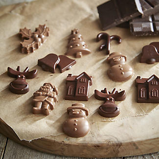 2 Piece Silicone Christmas Choc Mould