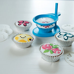 Cupcake Stencil Decorating Set