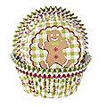 50 Gingerbread Man Cupcake Cases