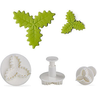 3 Holly Leaf Cutters