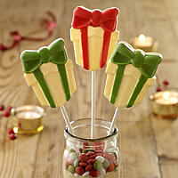 Present Festive Lolly Mould