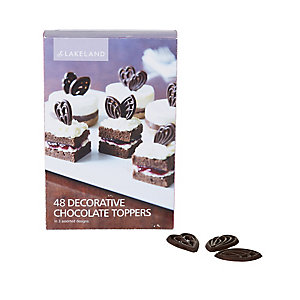 48 Lakeland Decorative Chocolate Toppers