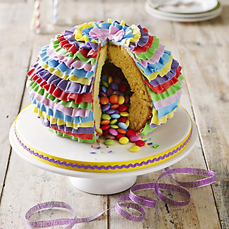 Piñata Ball Shaped Cake Tin With Secret Filling alt image 3