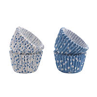 50 Mary Berry Greaseproof Mini Cupcake Cases - Blue
