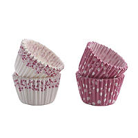 50 Mary Berry Greaseproof Mini Cupcake Cases - Pink