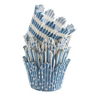 50 Mary Berry Greaseproof Cupcake Cases - Blue