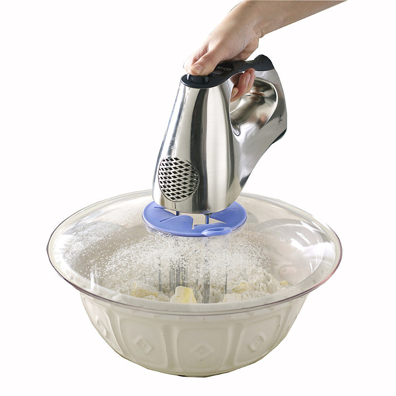 Mixing Bowl Clear Splatter Guard With Hole For