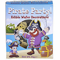 Pirate Party Wafer Decorations