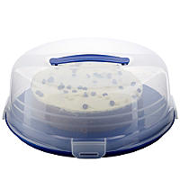 Cake Carrier Caddy & Clear Lid - Round Holds 27cm Cakes