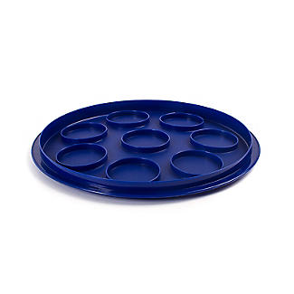 Cake Carrier Caddy & Clear Lid - Round Holds 24cm Flans & Tarts alt image 3