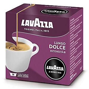 16 Lavazza A Modo Mio Coffee Pods - Lungo Dolce Caffe Crema - Medium