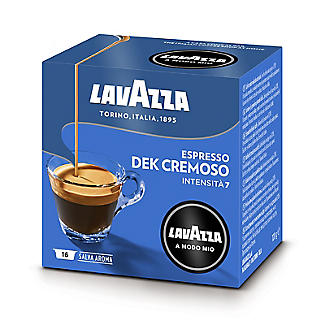 16 Lavazza A Modo Mio Coffee Pods - Dek Cremoso Espresso - Medium