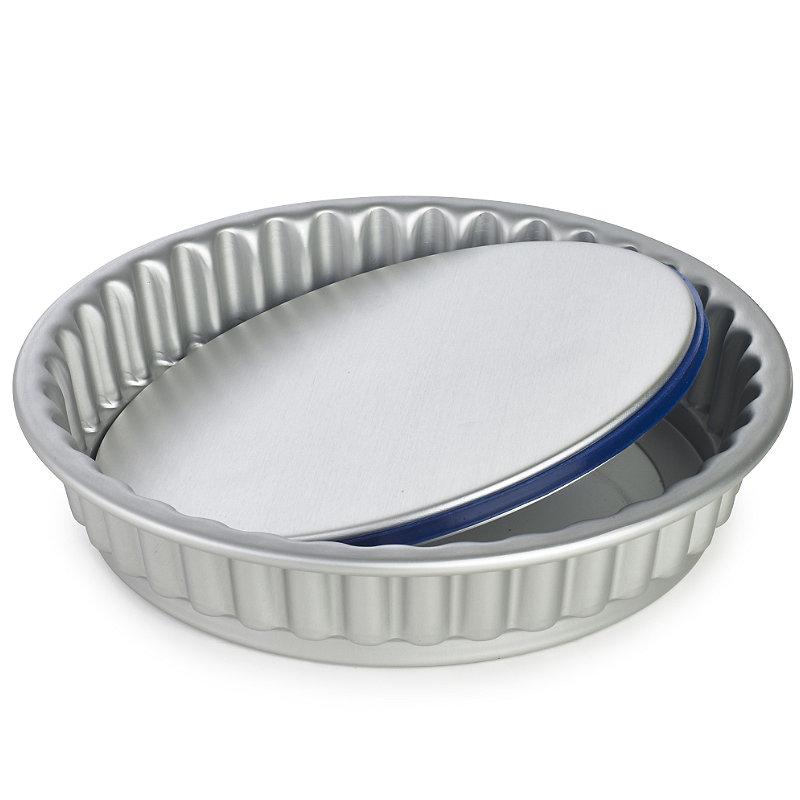 PushPan® Loose Based 20cm Fluted Flan Tin