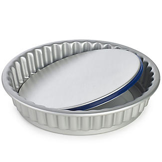 PushPan® Loose Based 23cm Fluted Flan Tin