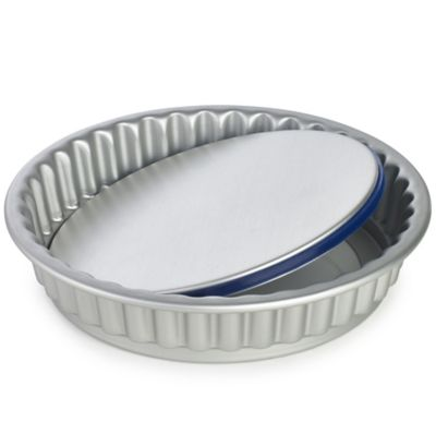 Lakeland PushPan&174 Loose Based 23cm Fluted Flan Tin