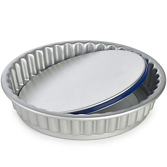 PushPan® Loose Based 25cm Fluted Flan Tin