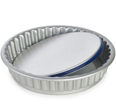 Lakeland PushPan&174 Loose Based 25cm Fluted Flan Tin