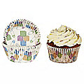 50 Baby Cupcake Cases