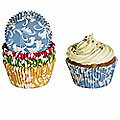 100 Lakeland Greaseproof Cupcake Cases - Damask Bright Colours