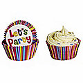 50 Let's Party CupCake Cases