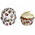 50 Small Pansy CupCake Cases