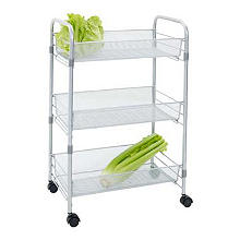 Chubby Mesh Cart 3 Tier Vegetable Kitchen Storage Trolley