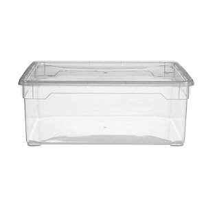 Clearview Stackable Clear Plastic Shoe Storage Box & Lid 5L