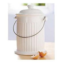 White Compost Crock