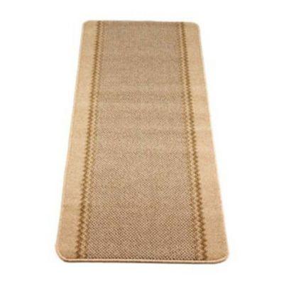 Hard Wearing Non Slip Indoor Floor Runner Mat Natural  180 x 67cm