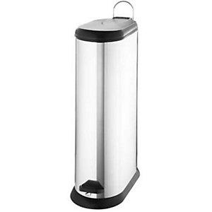 Lakeland Slimline Kitchen Waste Pedal Bin - Silver 20L