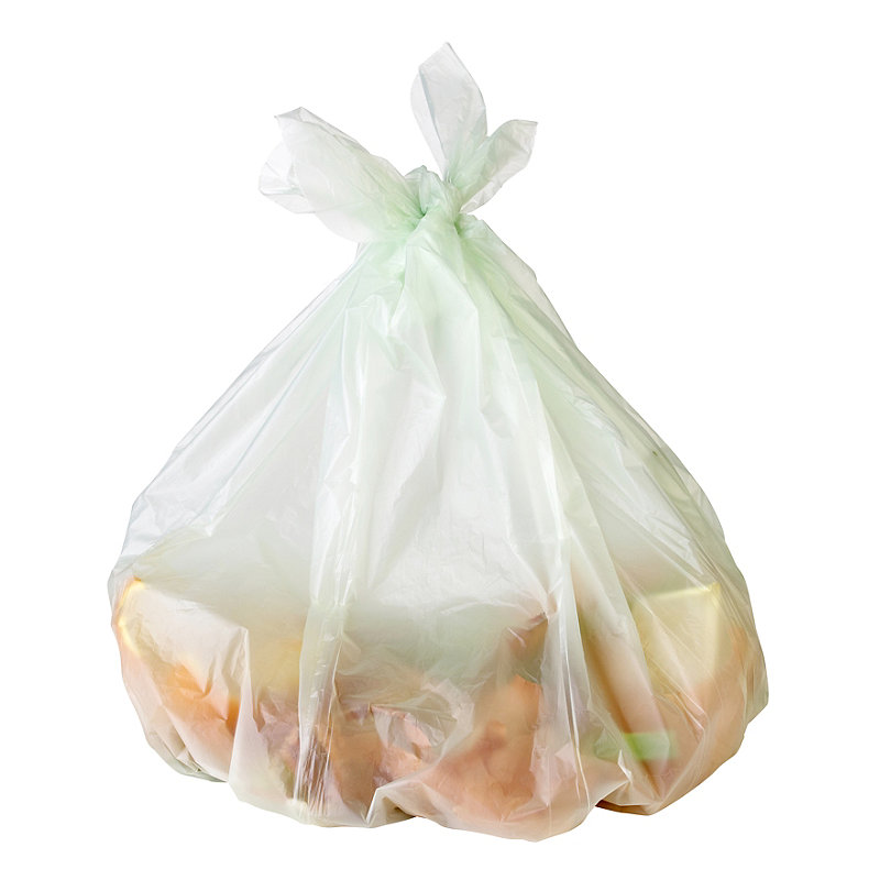 10 Compostable Compost Bin Caddy Bags - White