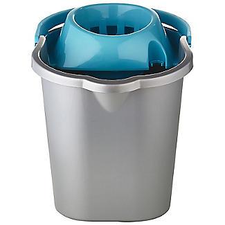 Grey & Blue Cleaning Mop Bucket, Handle & Wringer - 16L alt image 2