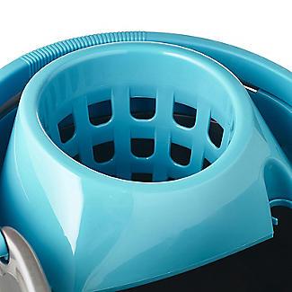 Grey & Blue Cleaning Mop Bucket, Handle & Wringer - 16L alt image 3