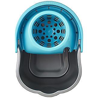 Grey & Blue Cleaning Mop Bucket, Handle & Wringer - 16L alt image 4