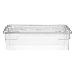 Clearview Stackable Clear Plastic Shoe Storage Box & Lid 10L