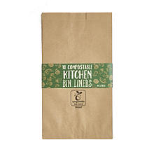10 Compostable Kitchen Bin Liners, 10 Litre