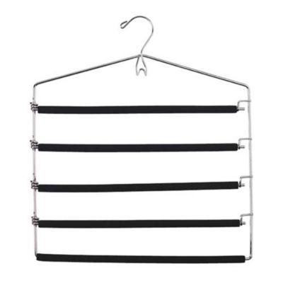 5 Bar Padded Tie Amp Trouser Hanger With Belt Hook