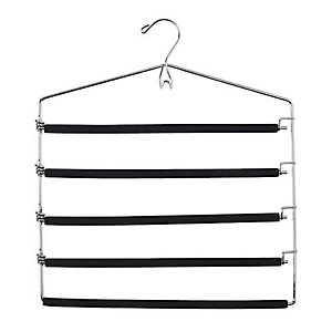 5 Bar Padded Trouser & Tie Clothes Hanger